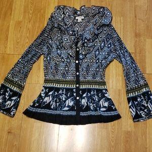 Plus size accordion pleat blouse sz 18/20